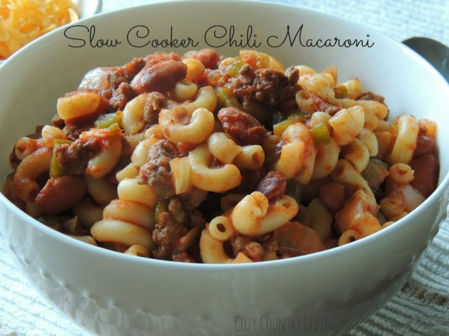Slow Cooker Chili Macaroni Cozy Country Living