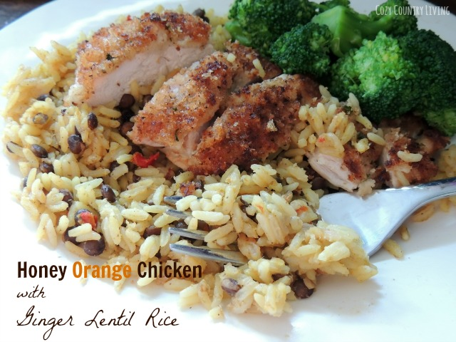 Honey Orange Chicken With Ginger Lentil Rice Tasty Bite Review Cozy Country Living
