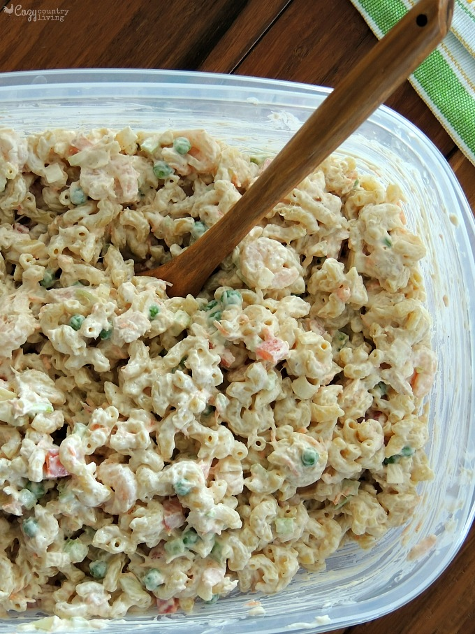Shrimp Tuna Macaroni Salad Cozy Country Living