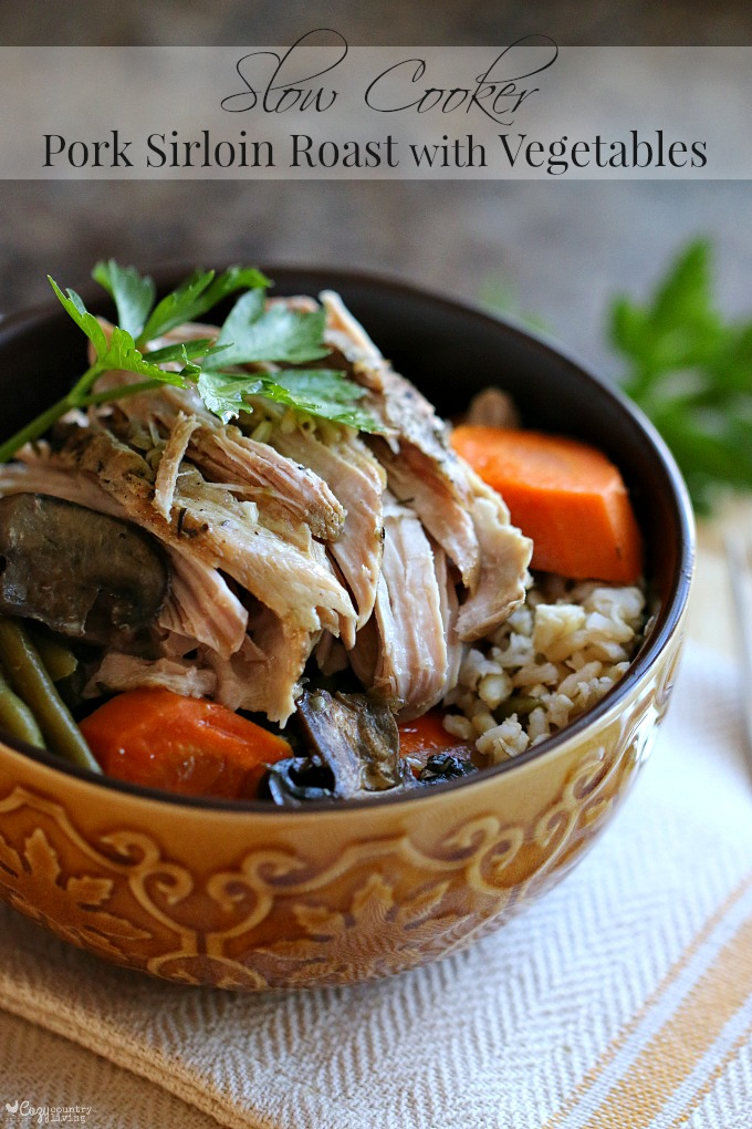 Slow Cooker Pork Sirloin Roast With Vegetables Cozy Country Living,Gourmet Food Online Order
